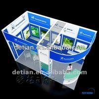 custom modern exhibition booth pvc panel