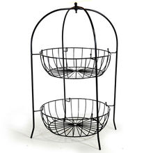2 tier wire fruit basket metal fruit basket stand cheap wire basket