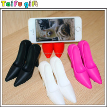 Fashionable products silicone high-heeled shoes mobile phone holder stand