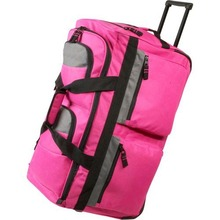 Fashion Rolling Travel Luggage Duffel Bag With Self-repairing Excel Zippers