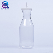 Low Price 1.5L Beverage Transparent Restaurant Juice Plastic Bottle with Cover