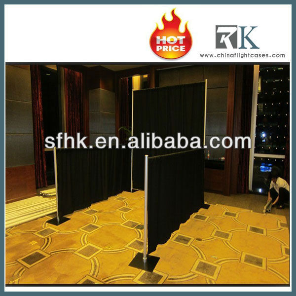 2015 hottest pipe and drape for exhibition booths construction