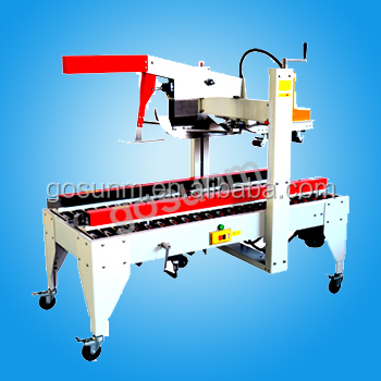 carton cover folding sealing and strapping machine