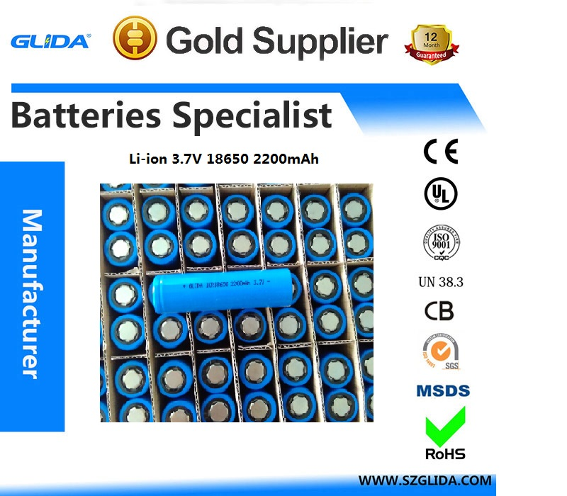 18650 2200mAh li-ion battery with high quality and competitive price manufacturer