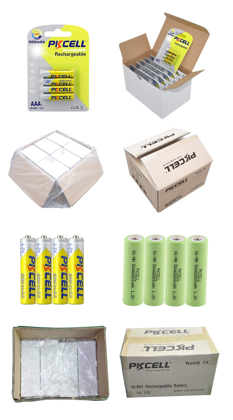 hot sale aaa 600mah 1.2v ni-mh rechargeable battery