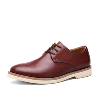 2016 High quality classic formal lace-up mens leather shoes