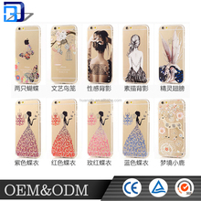 2016 hot sell Relief painting rhinestone factory price cell phone case for apple iphone