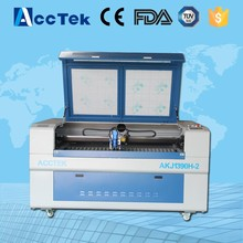 Two laser heads AKJ1325H-2 3d laser engraving and cutting machine price