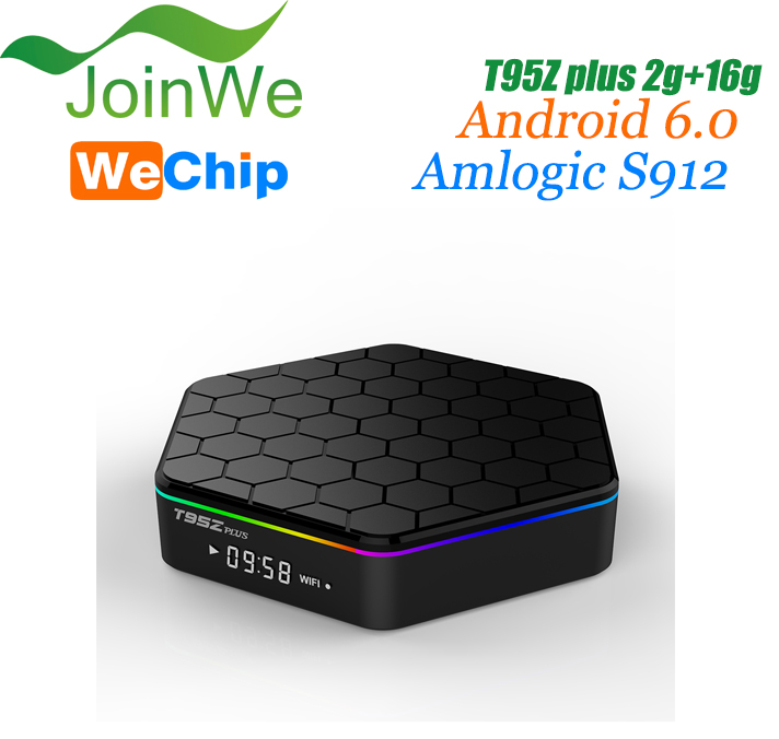 T95Z Plus cable set top box price Android 6.0 Amlogic S912 Octa Core Dual WiFi 1000M Gigabit Smart TV Box
