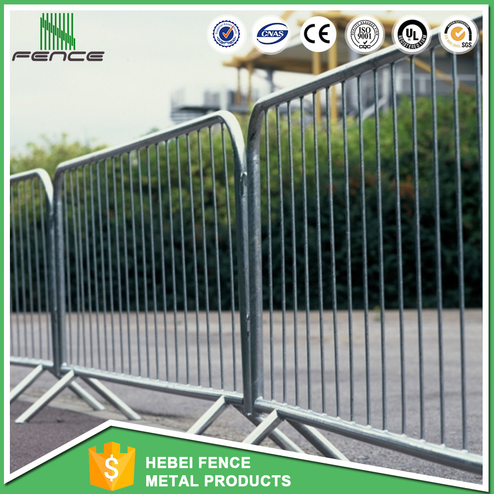Removable road crowd control barricades for sale / temp fence / bank queue line barrier