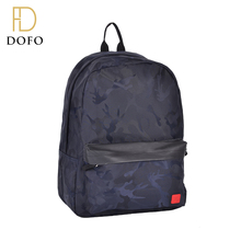 New style fashion camouflage durable PU outdoor school bag backpack