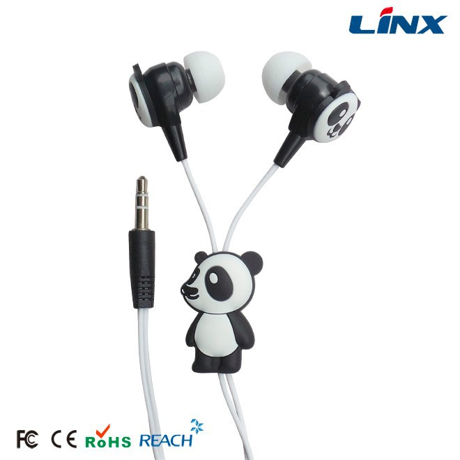 Customized animal shaped cute earphone for Mp3 players