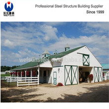 2017 new steel structure Prefabricated Barn Horse Stable poultry house