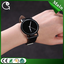 Free shipping fashion black and white leather strap unique concept watch