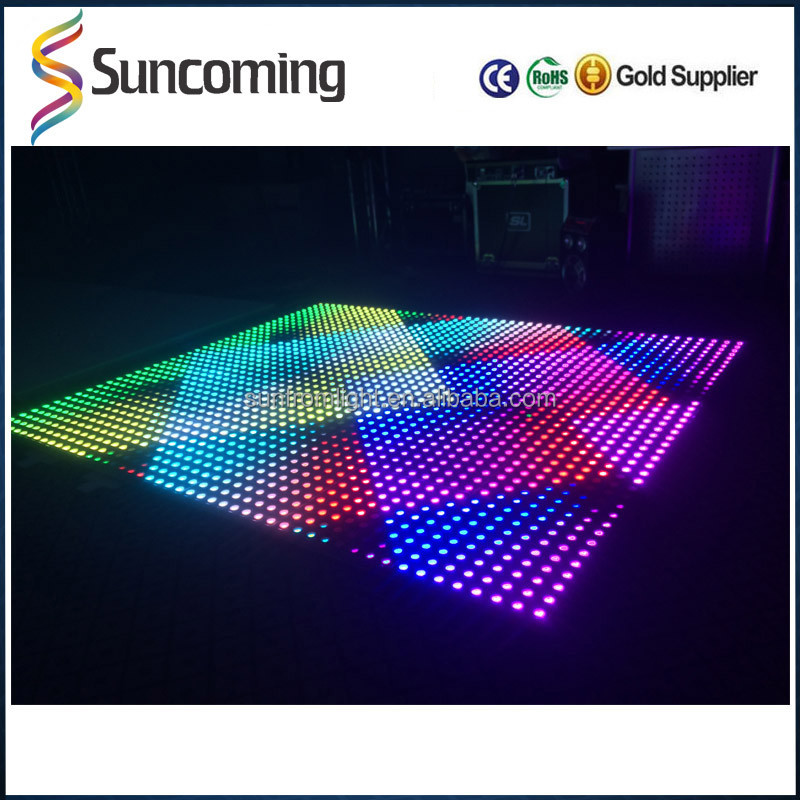 50x50 Portable Waterproof RGB Disco Panel Light Led Dancing Floor for Outdoor Indoor Decoration