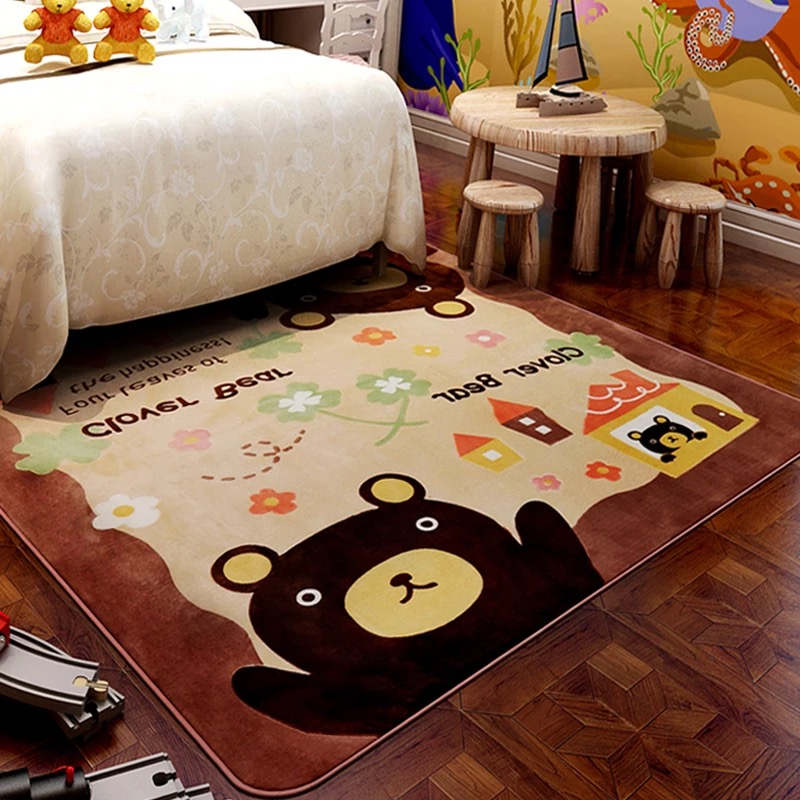 Various Colours baby microfibre carpet kids play mat