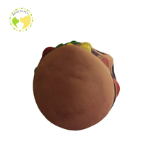 High Quality New Design Sausage Burger Squeaky Dog Chew Toy