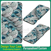 cool design sea waves skin custom print cellphone case for iphone for samsung galaxy