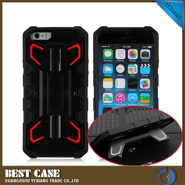 For iPhone 6 Plus 5.5 Inch Robot Armor Case With Stand For iPhone 6 Plus