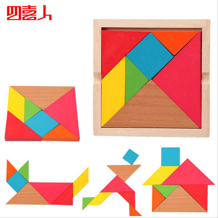children toys new 2016 style Children's educational toys Tangram Jigsaw Puzzle