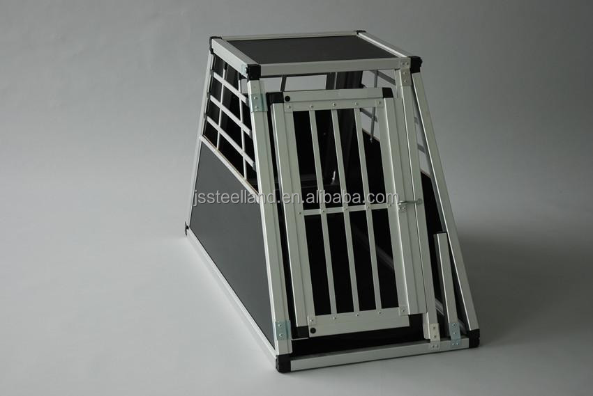 foldable easy to assemble with safety exit aluminum dog cage