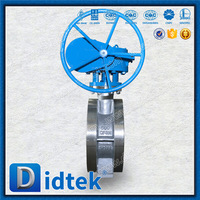 Professional make Top level gasoline double flange butterfly valve