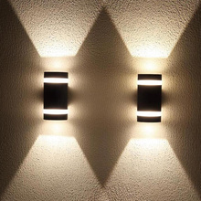 8W Outdoor Wall Light in D Shape with Aluminum Modern Wall Sconce WaterProof Wall Mount Light