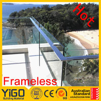 balcony railings suppliers/decking glass balustrade
