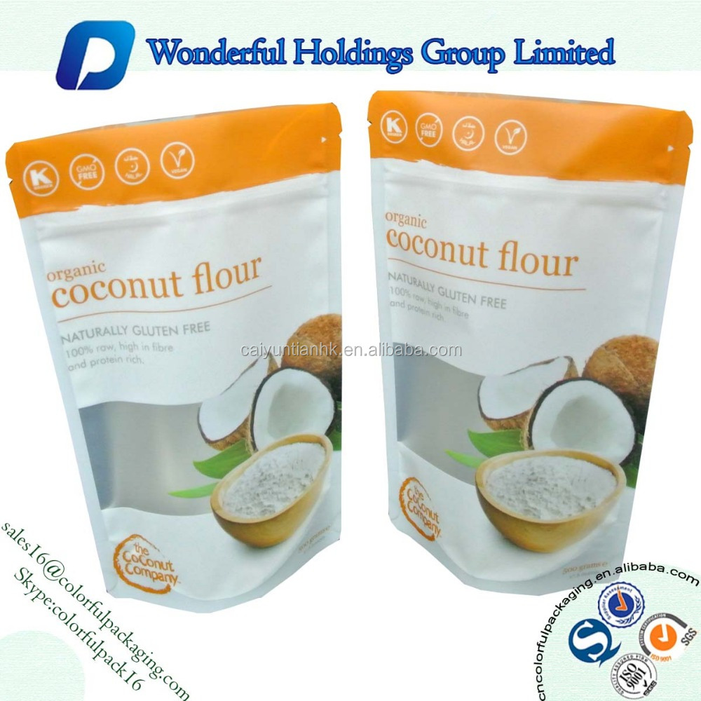 organic stand pouch coconut sugar bags with valve