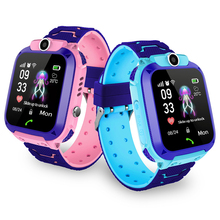2019 Hot Selling Gift Waterproof IP67 GPS Location Tracker SOS Call Location S12 <strong>Smart</strong> <strong>Watch</strong> For Children
