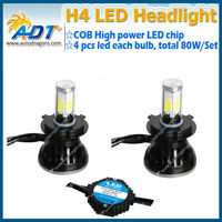 H4 COB chip led headlamps, led auto headlight, HID/ Xenon replacement