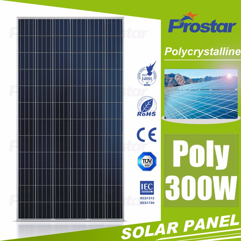China PV Manufacturer 300 watt Poly Solar Panel 300w High Efficiency 4BB Commercial Solar Plant