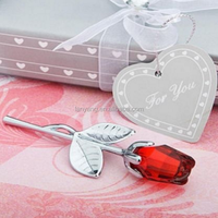 Wholesale Crystal Red Rose Favour gift/ Wedding Favours gift / Guest Gifts