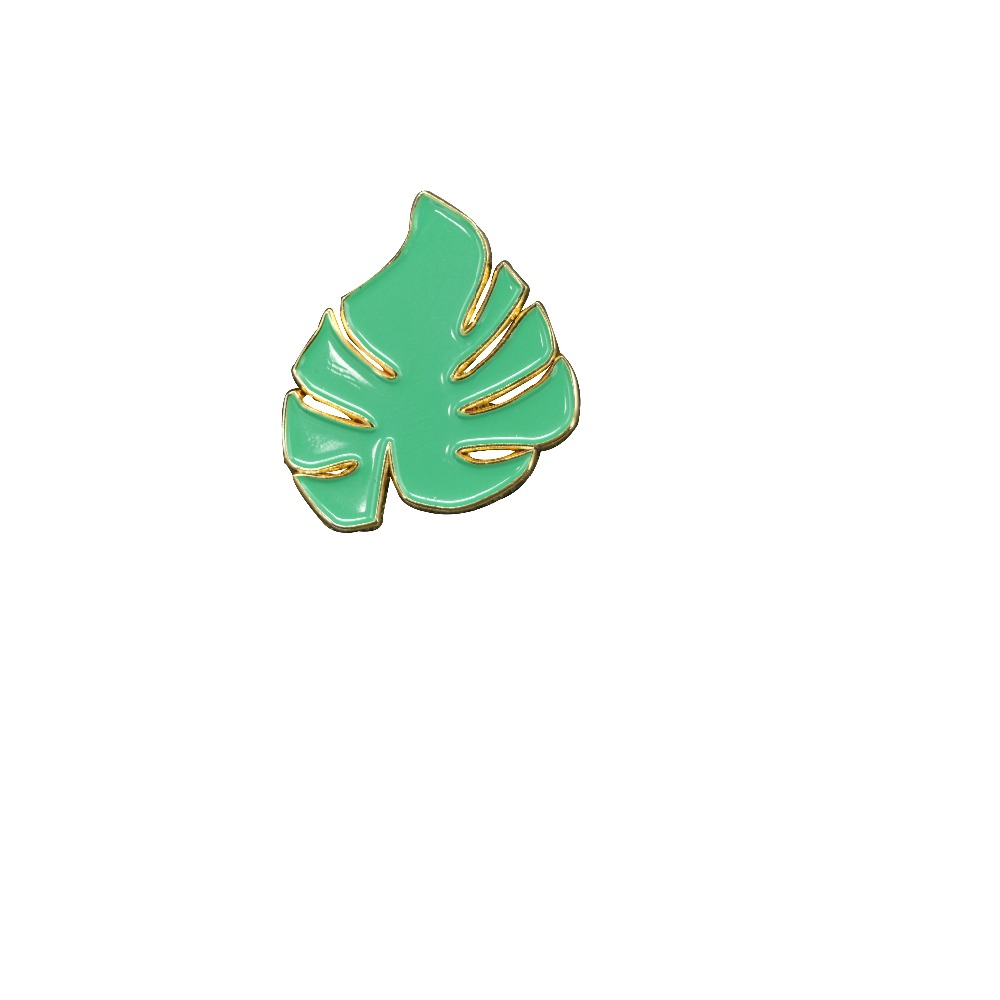 souvenir leaf shaped badge soft enamel metal badges