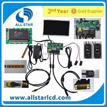 VGA +H +AV LCD driver board +LCD LP156WH4 1366*768 +OSD keypad with cable+Touch Screen panel with control card+Remote control