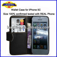 Size 100% Confirmed tested with REAL Phone,Book Style Wallet Case for iPhone 5C,Credit card flip case for iPhone 5C