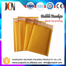 Self Sealing Custom Yellow Kraft Bubble Bag, Padded Envolopes 160*190mm
