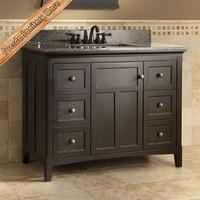 Wooden Bathroom Furniture 48 inch bathroom vanity, bathromm cabinet with marble countertop