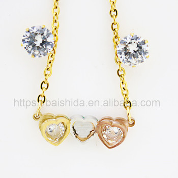 heart shaped jcm stainless steel jewelry for south american