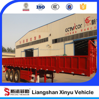 Heavy duty 13m tri axles cargo trailer truck for sale