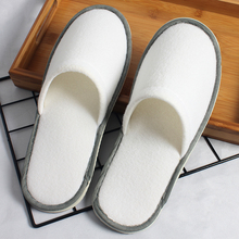 Factory Supplier Eco Friendly Eva Sole Fleece Fabric Disposable Washable Hotel <strong>Slipper</strong>