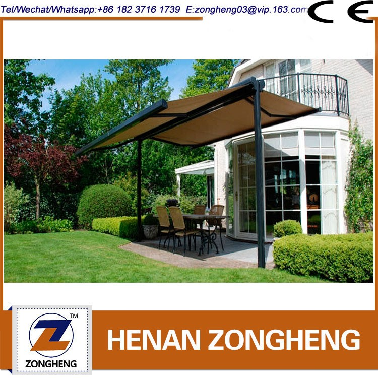 Professional Retractable Double Slope Awning
