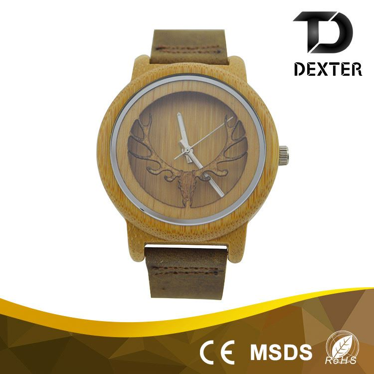 Wooden watch back case elegant wood watch logo