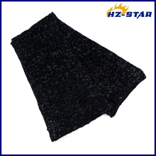 HZW-12093013 new design crochet cable women knitted scarf shawl