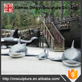 Outdoor Decoration Fiberglass Artificial Shark Sculpture