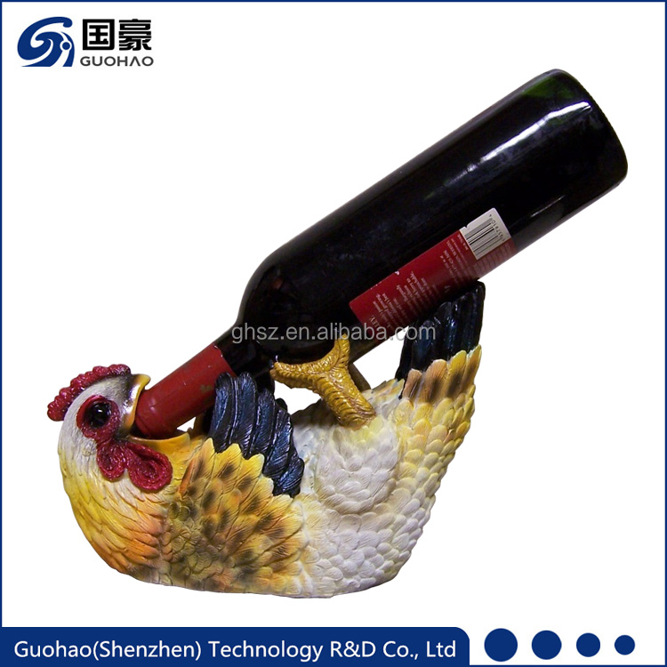 Decorative Sculpture Hen Chicken wine bottle holder