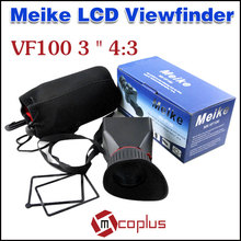 MEIKE 2.8X Amplification 3 inch LCD Viewfinder Extender Rubber View Finder VF100 3'' 4:3 for Canon 550D 600D 650D 60D 70D