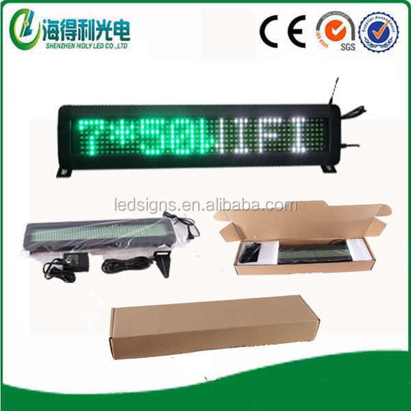 Ebay wholesale cheap price 7x50 SMD multi color wifi wireless mini led moving display screen