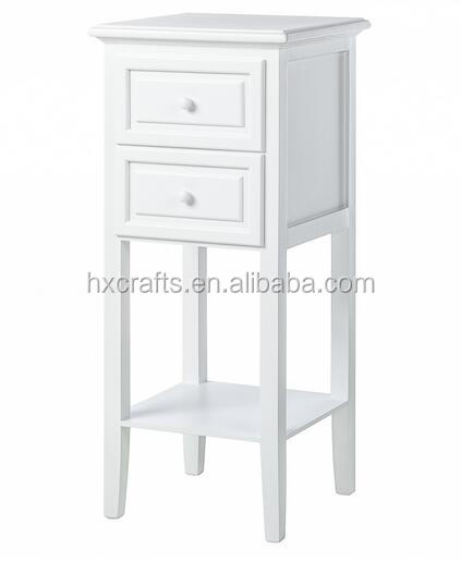 White 2 Drawer With Shelf Home Chest Drawer Modern Wooden Bedroom Furniture