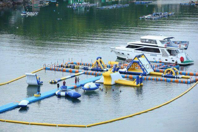 Hot PVC lake inflatable water park games for adults, floating water park